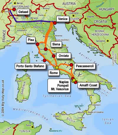 Chris Harrison ItalySwitzerland - Map of italy and switzerland